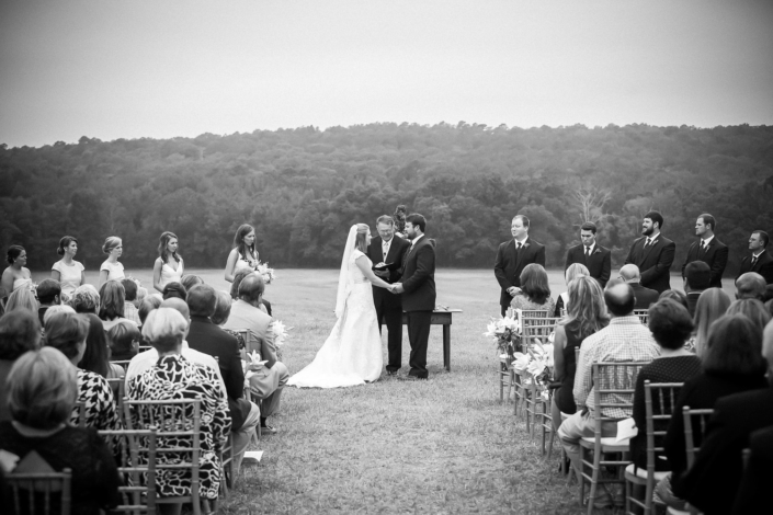 Bride and Groom outdoor wedding ceremony.