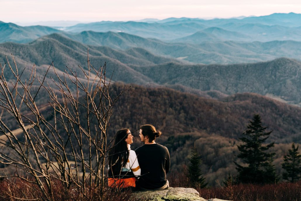 Roan Mountain Engagement Photography