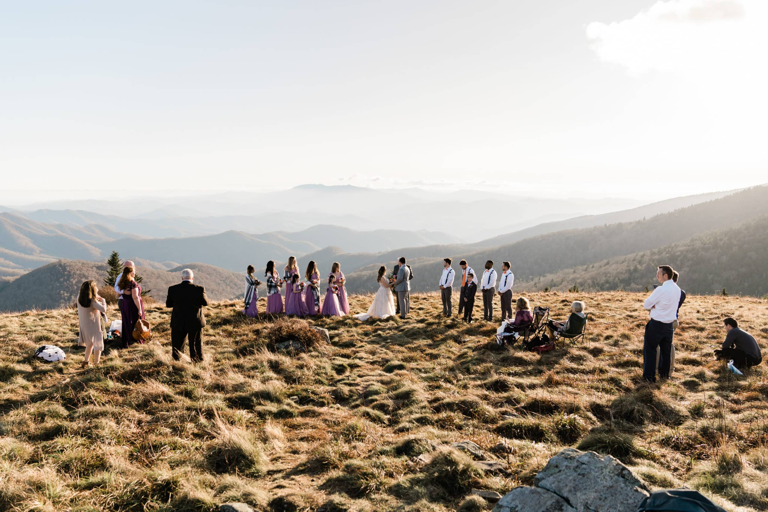 Elopement Wedding ceremony on Roan Mountain